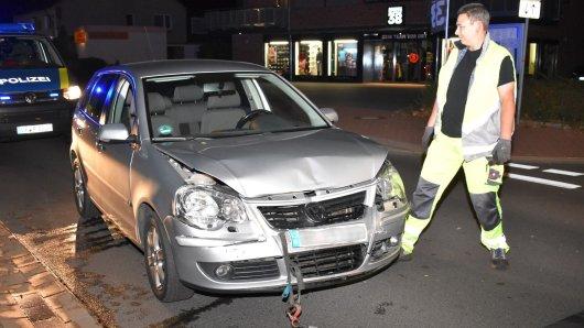 Der VW Polo krachte am Donnerstagabend auf einen Audi.