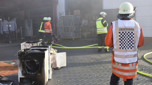 Feuerwehr-Einsatz in der Allerstraße in Dannenbüttel.