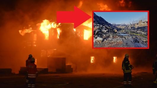 Im Kreis Gifhorn steht ein Dorfgemeinschaftshaus in Flammen.