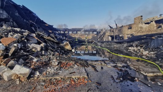 Nach dem Brand war nicht mehr viel übrig von dem Dorfgemeinschaftshaus im Kreis Gifhorn.