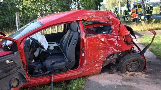Schwerer Unfall im Landkreis Gifhorn.