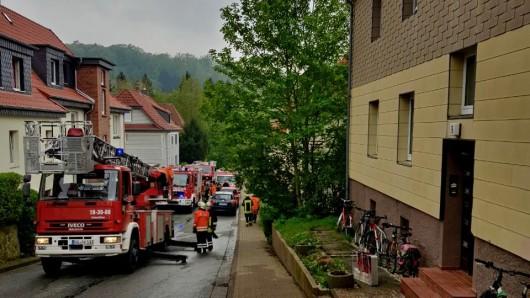 Eine Frau wurde bei dem Brand in Seesen verletzt.