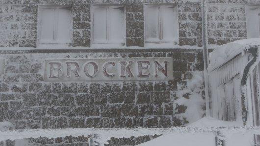 Der Bahnhof Brocken ist vereist.