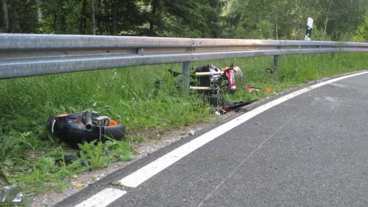 Schwerer Motorradunfall zwischen Lautenthal und Hahnenklee.