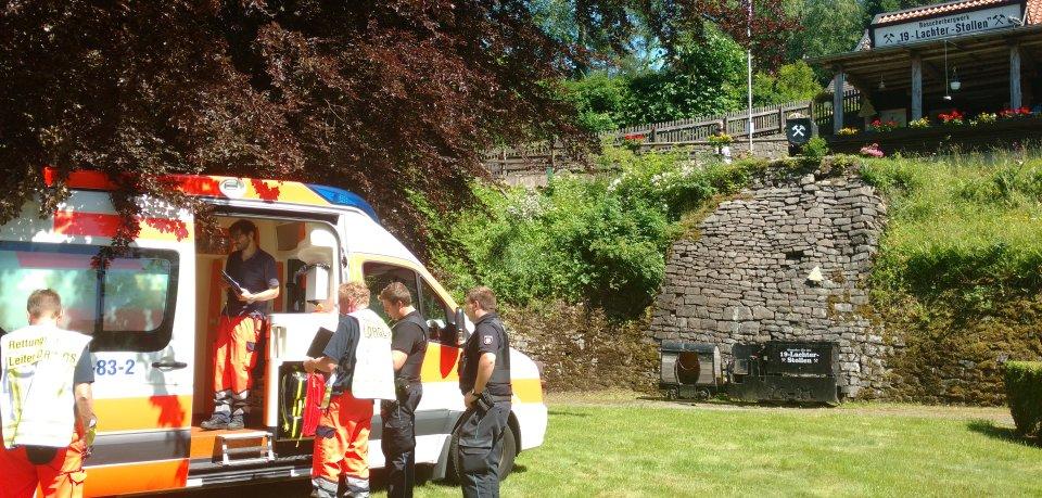 Rettungseinsatz am 19 Lachter Stollen in Wildemann.