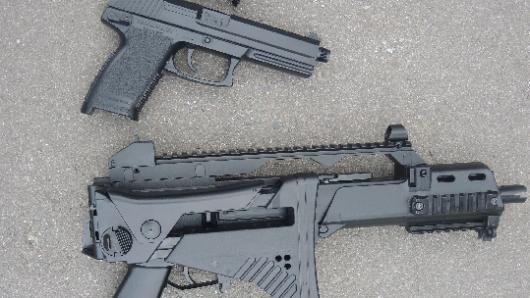 Diese Softairwaffen stellte die Polizei in Ilsenburg sicher.