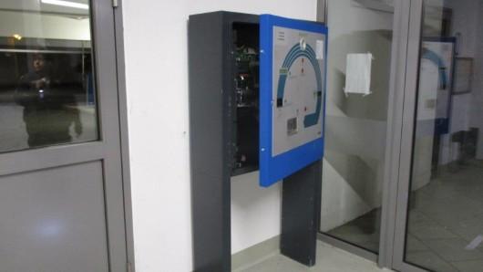 Der Kassenautomat war ein Opfer der Randalierer.