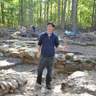 Archäologen legen derzeit die Fundamente der ehemaligen Kirche wieder frei.