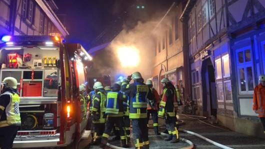 Die Feuerwehr war mit rund 70 Kräften in der Westernstraße im Einsatz.