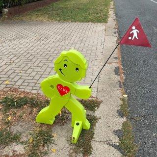 Eine Streetbuddy-Figur ist noch da. Aber die andere fehlt.