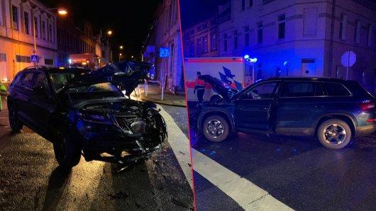 Am frühen Dienstagmorgen kollidierten zwei Fahrzeuge in Helmstedt.