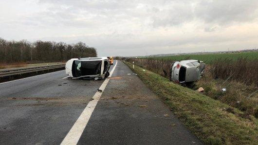 Schrecklicher Unfall auf der A39 am Sonntagmorgen.