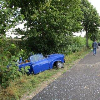 In Schöningen kam es auf der B224 zu einem schweren Autounfall.
