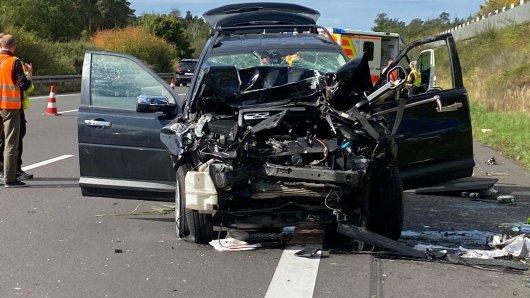 Auf der A2 bei Helmstedt hat es einen schweren Unfall gegeben.