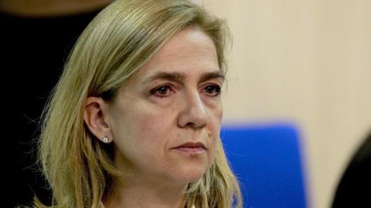 Die spanische Königsschwester Cristina vor Gericht in Palma de Mallorca.