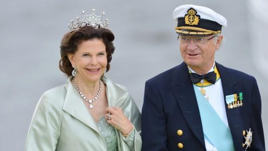 Königin Silvia von Schweden und Carl XVI Gustaf von Schweden im Jahr 2013. (Archivbild)