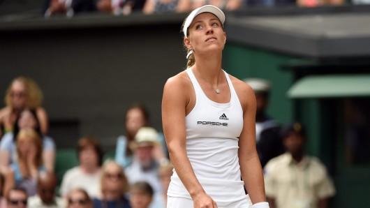 Angelique Kerber im Wimbledon-Finale gegen Serene Williams.