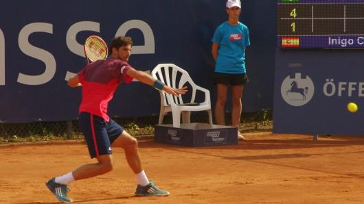 Das Herren-Finale: Der Thomaz Bellucci (Foto) spielt gegen den Spanier Inigo Cervantes.