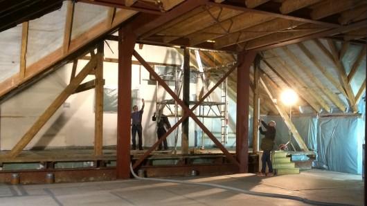 Im Hoffmannhaus wurde fleißig saniert - auch im Dachgeschoss des alten Fachwerks mussten die Bauarbeiter ran (Archivbild).