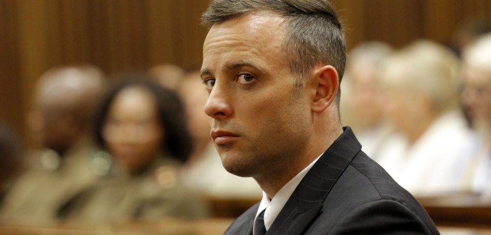 Oscar Pistorius im Gerichtssaal während des Prozesses um den Tod seiner Freundin.