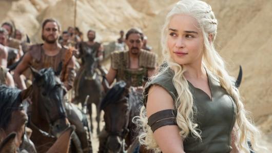 Daenerys Targaryen in einer Szene der Fernsehserie Game of Thrones