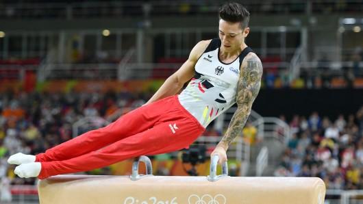 Runer Marcel Nguyen bei den olympischen Spielen.