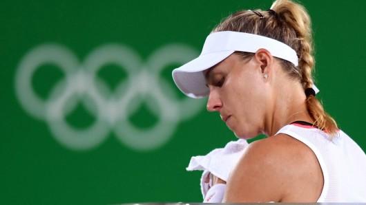 Angelique Kerber unterlag der Puerto Ricanerin Monica Puig - und musste ihren Traum vom Gold aufgeben. Ihr blieb Silber.