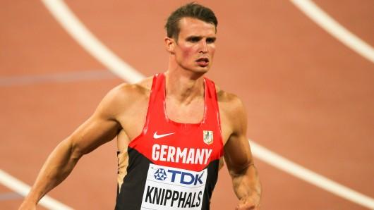 VfL-Sprinter Sven Knipphals verabschiedet sich am 19. August in Wolfsburg (Archivbild).