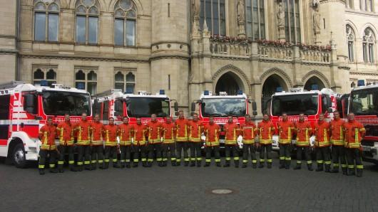 Die neuen Einsatzfahrzeuge der Berufsfeuerwehr Braunschweig.