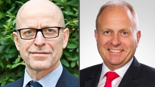Einer wird gewinnen - aber wer? Hans Werner Schlichting (SPD, links) und Gerhard Radeck (CDU) treten am Sonntag in der Stichwahl um den Landrats-Posten in Helmstedt an.