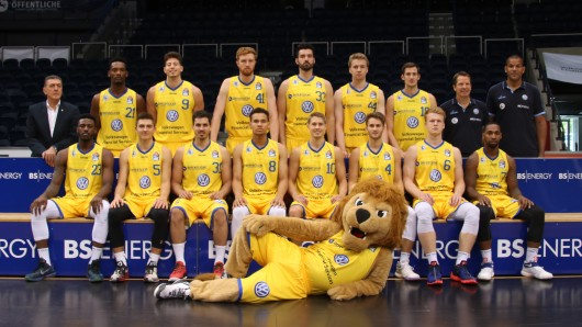 Das Team der Basketball Löwen für die Saison 16/17.