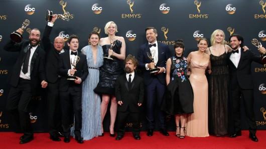 Glückliche Gewinner: Die Crew von Game of Thrones.