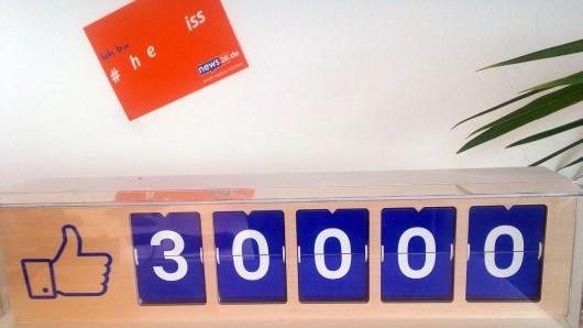 Seit wenigen Minuten: news38.de hat von Euch bei Facebook 30.000 Likes erhalten. Danke!