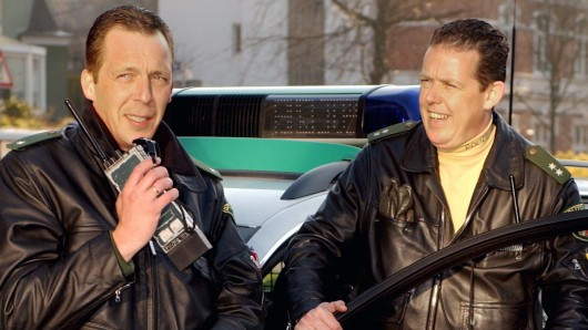 Die Bochumer Polizisten Harry Thomas Weinkauf (l.) und Toto Torsten Heim.