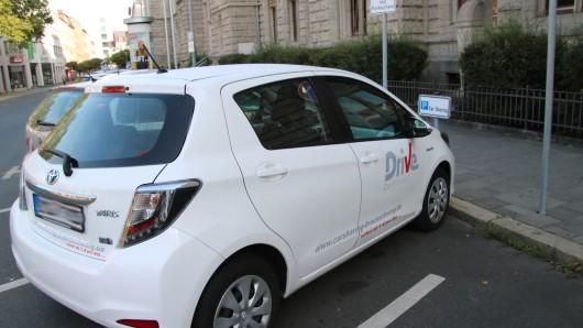 Car-Sharing-Parkplatz auf dem Ruhfäutchenplatz in Braunschweig.