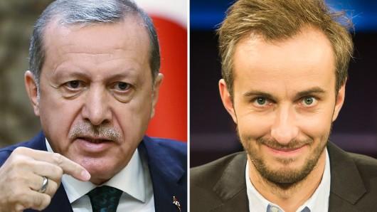 Der türkische Ministerpräsidente Recep Tayyip Erdogan und ZDF-Neo-Moderator Jan Böhmermann.