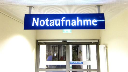 Die Notaufnahme des Klinikums in Salzgitter.