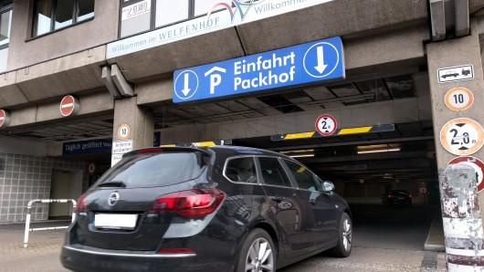 Die Tiefgarage Packhof in Braunschweig.
