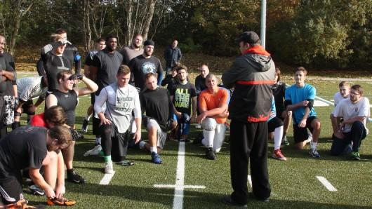 Beim Tryout kommt es auf die athletischen und footballspezifischen Fähigkeiten an.