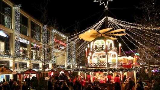 Der Wolfsburger Weihnachtsmarkt. (Archivbild)