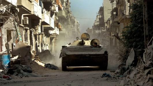 Mit Panzern beteiligt sich die Türkei in Syrien am Kampf gegen die Terrormiliz Islamischer Staat (Symbolbild).