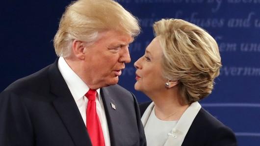 Die Demokratin Hillary Clinton und der Republikaner Donald Trump.