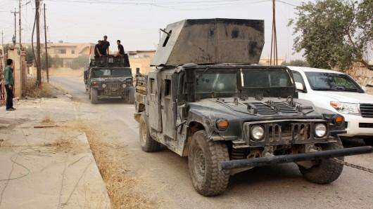 Die irakische Armee rückt gegen die Nachschubwege der Terrororganisation IS vor.