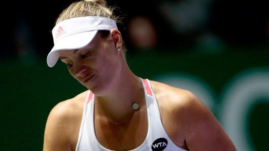 Geschlagen: Angelique Kerber hat den Finalsieg in Singapur aus der Hand gegeben.