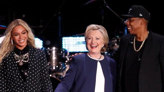 Beyoncé und Jay-Z sangen für Hillary Clinton in Ohio.