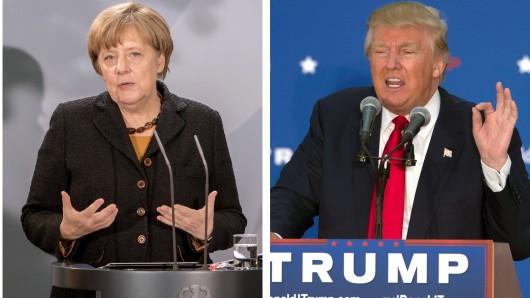 Bundeskanzlerin Angela Merkel und der designierte armerikanische Präsident Donald Trump.