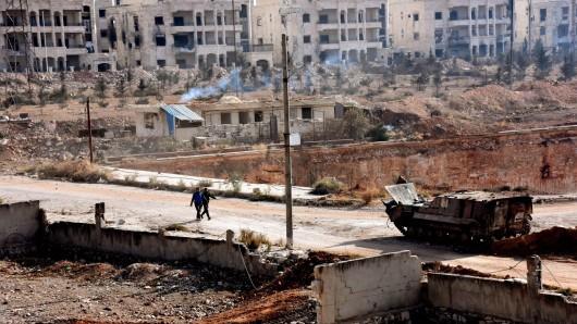 Die zum Großteil zerstörte Stadt Aleppo (Archivbild).