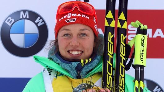 Laura Dahlmeier hat das Double geschafft.