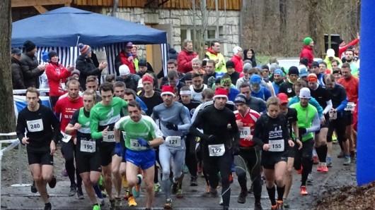 Start für die Halbmarathon-Läufer.