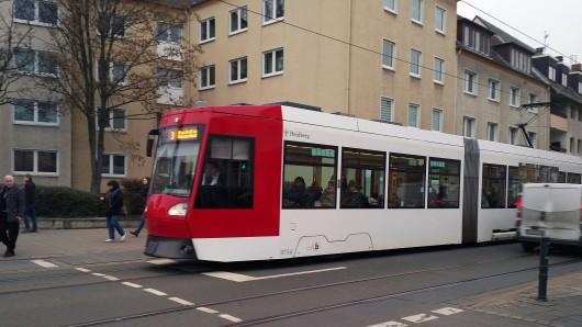 Straßenbahnlinie 3 in der Gliesmaroder Straße (Archivbild).